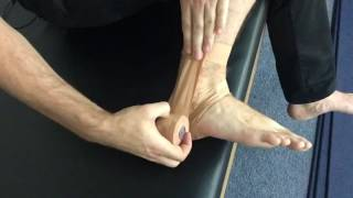 Self Ankle Strapping For A Lateral Ankle Sprain Or Ankle Instability