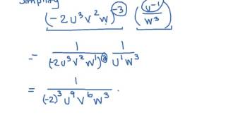 power product and quotient rules with negative exponents