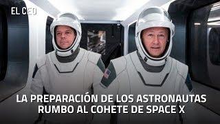 El camino al cohete de Space X antes de la cancelación del despegue