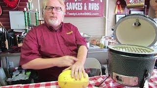 Spaghetti Squash on the Big Green Egg MINI and Kamado Joe BIG JOE