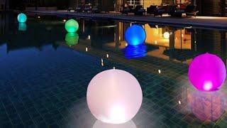 Lampada Solare gonfiabile e galleggiante multicolor