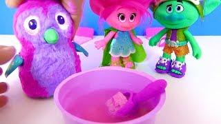 #Мультик Тролли Trolls Мастерская Розочки и Яйцо с Сюрпризом от Хэтчималс Surprise Egg