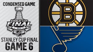 06/09/19 Cup Final, Gm6: Bruins @ Blues