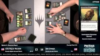 Pro Tour Shadows over Innistrad Round 11 (Draft): Brad Nelson vs. Jon Finkel