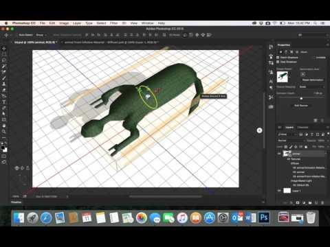 45-Adobe PhotoShop CC| 3D desgin Draw animal - part2رسم مجسم ثلاثي الابعاد في الفوتوشوب