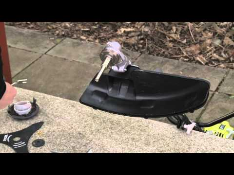 How to change your Ryobi Petrol Line Trimmer to a Brushcutter Blade