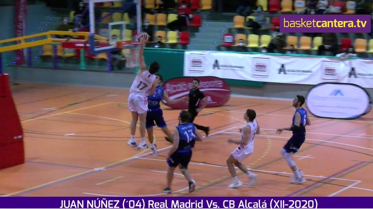 JUAN NÚÑEZ (´04) Real Madrid. Highlights VS CB Alcalá (BasketCantra.TV)