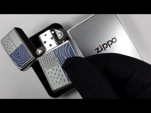 207 Зажигалка Zippo Blue Journey, Street Chrome