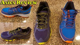ASICS Gel Venture 6 vs ASICS Gel Venture 7 - Trail Running Shoes Review and Comparison in 4K.