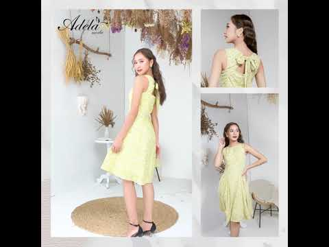 ATTRACTIVE GIRL Collection (November 2020) - Đầm ADELA MODA Sát nách buộc nơ lưng A00822