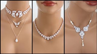 Beautiful And Elegant Diamond Necklace And Diamond Pendants Designs