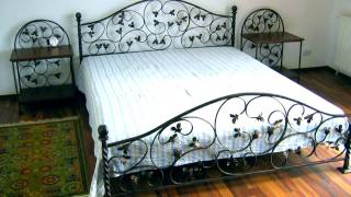 Современная кованая кровать дизайн в современном стиле из металла