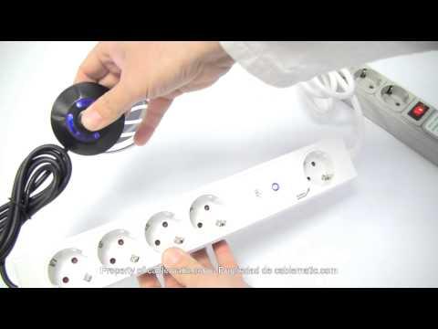 Regleta con interruptor de pie para ahorro de energía distribuido por CABLEMATIC ®