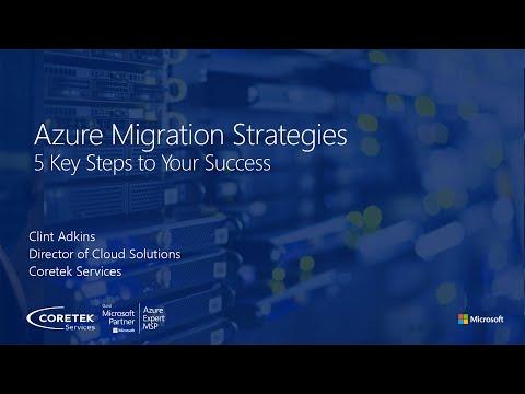Azure Migration Strategies - Jan 2021