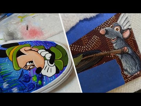 These custom Disney shoes are works of art!