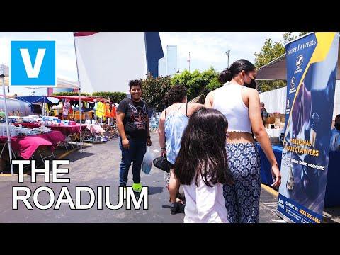 THE ROADIUM SWAP MEET - Walking around Open Air Market ROADIUM - California - 4K UHD