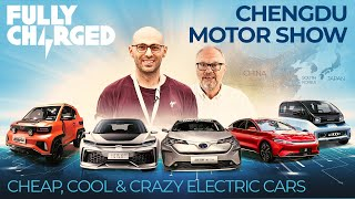 Cheap, Cool & Crazy Electric Cars at CHENGDU MOTOR SHOW | FULLY CHARGED for Clean Energy & EVs