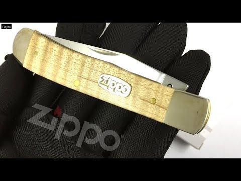 50604 Нож перочинный Zippo Natural Curly Maple Wood Trapper, 105 мм, бежевый