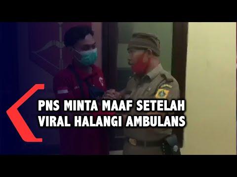 pns kecamatan minta maaf setelah viral karena menghalangi ambulans