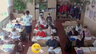 4-А класс школы №18 накануне Дня учителя в пос.Коцюбинское (Коцюбинське)