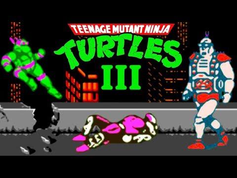 Teenage Mutant Ninja Turtles 3 (Черепашки Ниндзя 3) прохождение (NES, Famicom, Dendy)