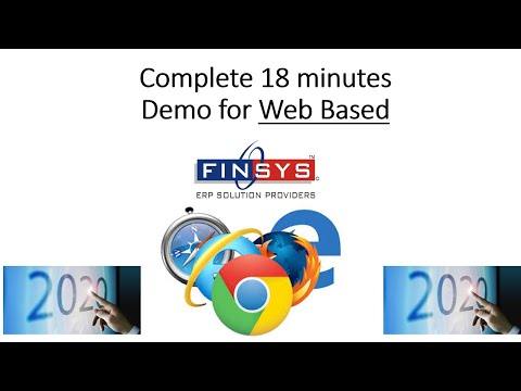 Web Finsys Demo | Browser based version of Finsys | Finsys 2020