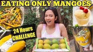 I Ate Only MANGOES For 24 Hours Challenge🥭 Tried Innovative Recipes 😅 - Download this Video in MP3, M4A, WEBM, MP4, 3GP