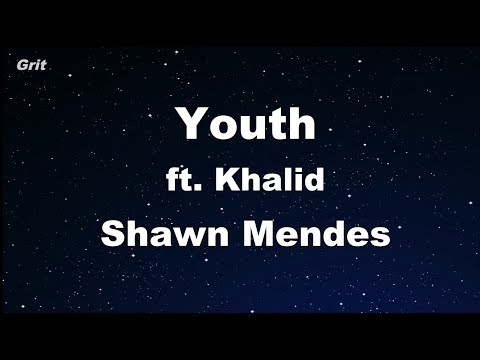 Youth ft. Khalid - Shawn Mendes Karaoke 【With Guide Melody】 Instrumental