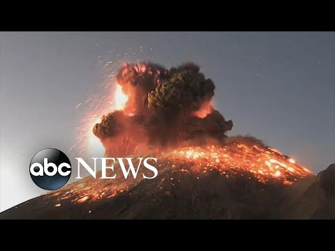 Volcanic eruption sends explosion of ash, smoke into sky in Mexico | ABC News
