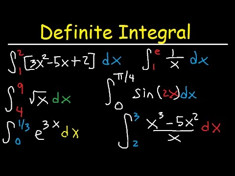 Definite Integral Calculus Examples, Integration - Basic Introduction, Practice Problems