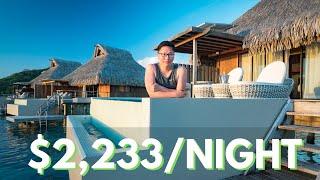$2,233 A Night BORA BORA LUXURY Overwater Villa Tour (Conrad Bora Bora Nui)