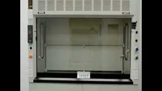 6′ Fisher Hamilton Laboratory Fume Hood with Chemical Base Cabs and Epoxy Tops