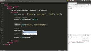 How to Remove and Add Elements to a JavaScript Array