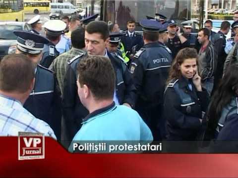 Politistii protestatari