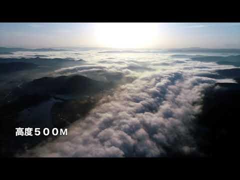 川内川あらし(上空500m)