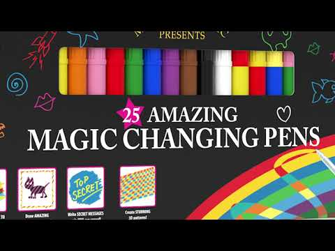 Youtube Video for Amazing Magic Pens - Set of 25