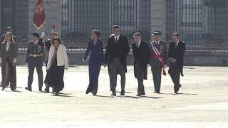 SS.MM. los Reyes presiden en el Palacio Real la ceremonia de la Pascua Militar