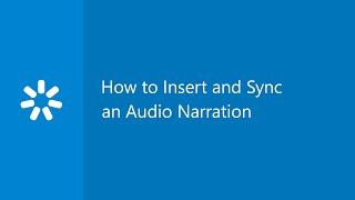 How to Insert and Sync an Audio Narration