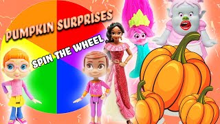 Disney Junior Elena of Avalor Spin the Wheel Game with Poppy, Bridget, and Pumpkin Surprises!