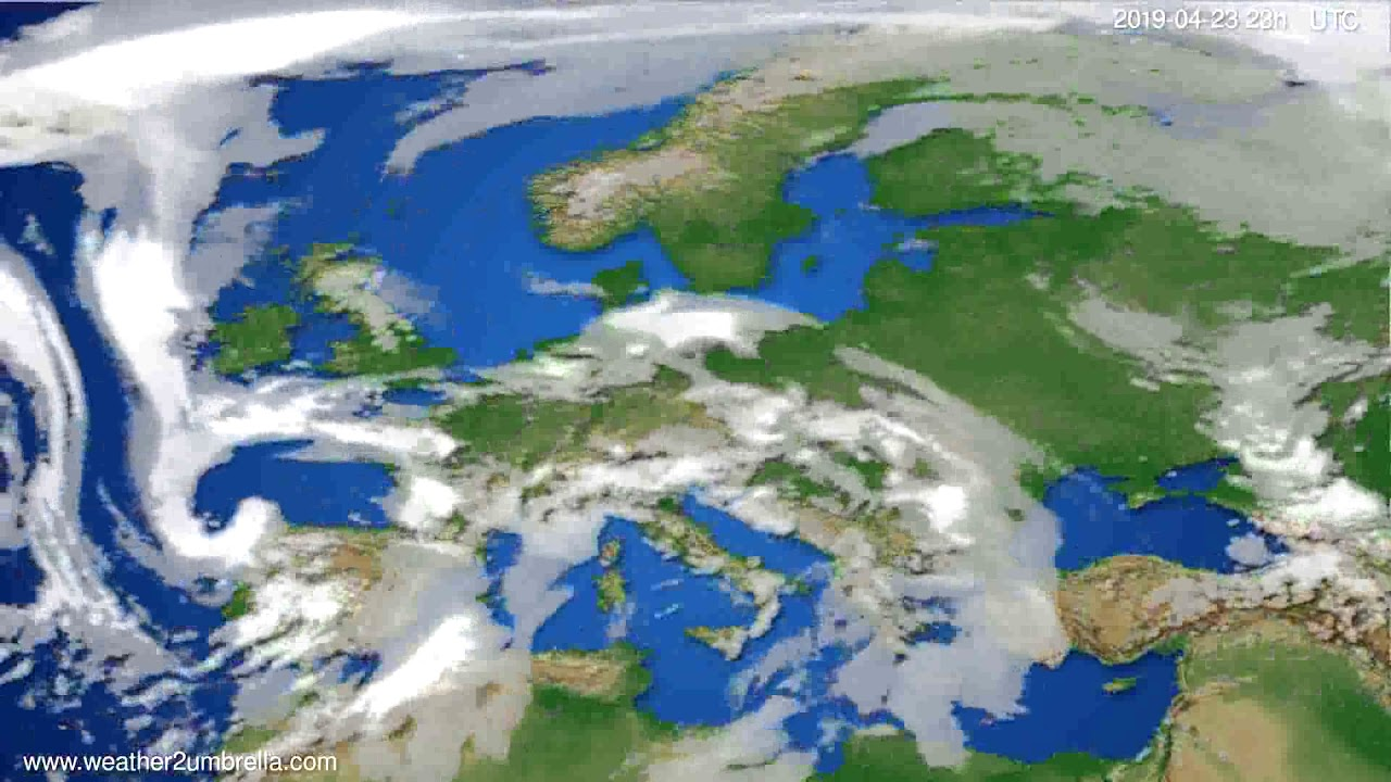 Cloud forecast Europe // modelrun: 12h UTC 2019-04-20