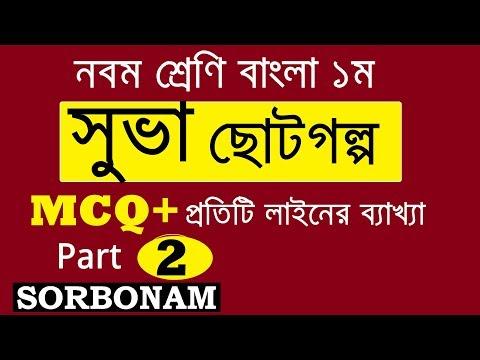 Suva সুভা   SSC Bangla 1st   Suva সুভা   MCQ Suggestion and Question
