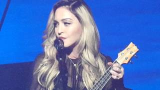 Madonna sings La Vie en Rose live  January 9, 2016