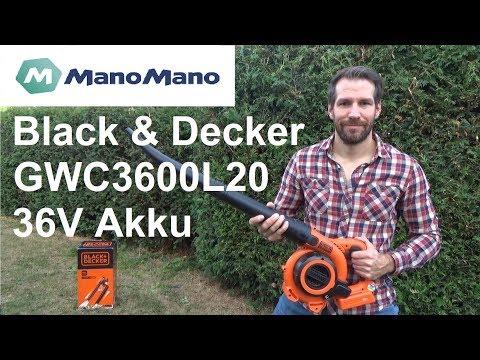 Black & Decker Akku Laubbläser und Sauger GWC3600L20 mit Häcksler Test