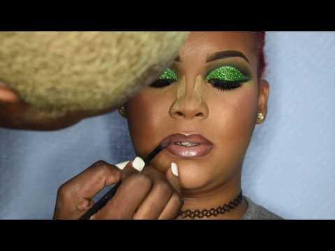 Green Glitter CutCrease💚 | Client Edition Ft. Yonnie Melone