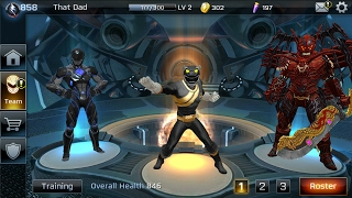 UPGRADING + MY NEW LINE UP WITH LV 3 XANDRED!!! POWER RANGERS : LEGACY WARS
