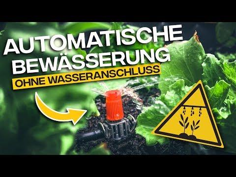 AUTOMATISCHE BEWÄSSERUNG OHNE WASSERANSCHLUSS | Gardena Micro Drip System