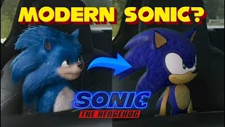MODERN SONIC In The Sonic Movie 2019 Trailer