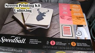 Speedball Screen Printing Kit Unboxing