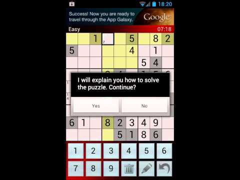 Video of EZ Sudoku