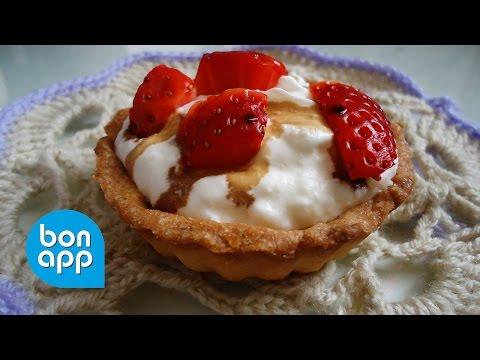 Тартинки с клубникой в сырно сливочном креме - Оригинальные рецепты
